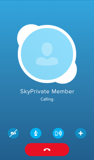 skyprivate pay per minute skype incoming call for model from members on mobile