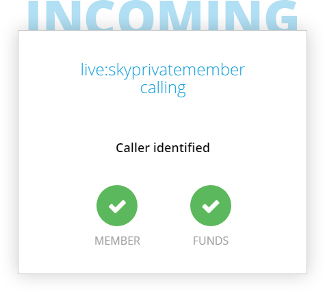 SkyPrivate plugin – incoming caller identified